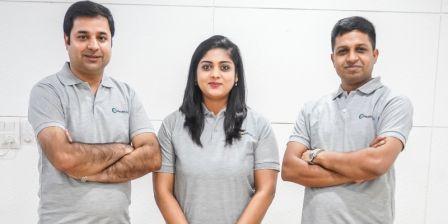 Founders of HealthQik: Abhinav, Ishita, and Manish