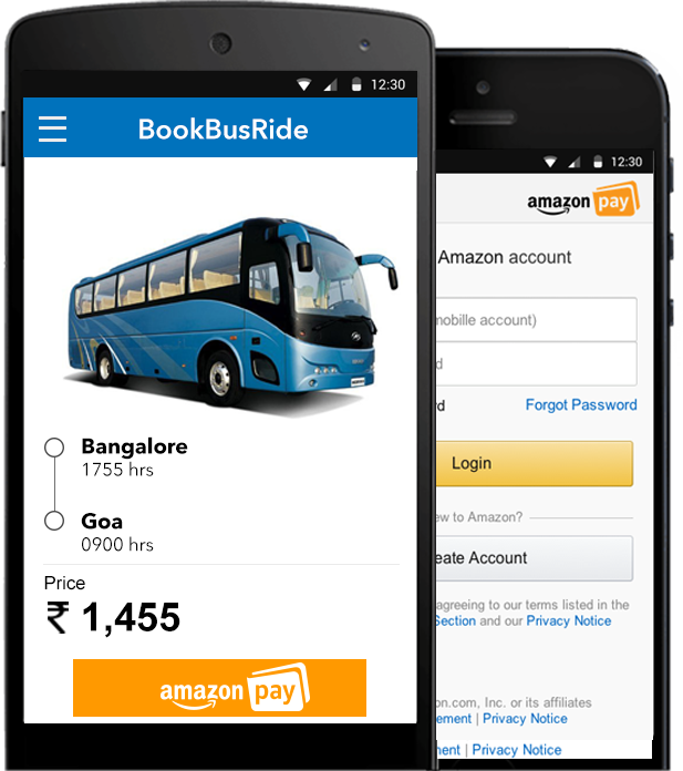 Amazon Pay Mobile layout
