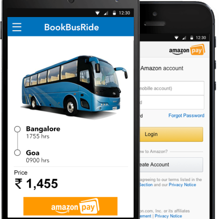 Amazon pay app mobile view