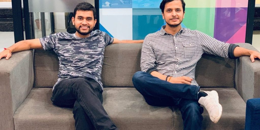 AttainU founders Divyam Goel and Vaibhav Bajpai