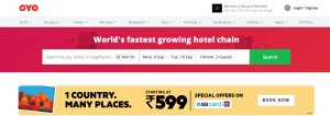 Indian Startup Oyo Rooms