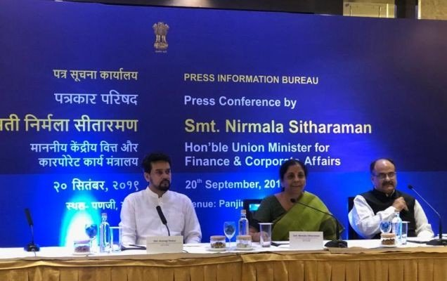 FM, Nirmala sitharaman press conference on corporate tax cut