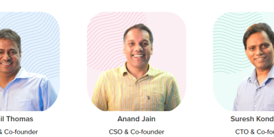 CleverTap Founder team, Sunil Thomas, Anand Jain and Suresh Kondamudi