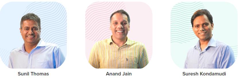 CleverTap Founder team, Sunil Thomas, Anand Jain and Suresh Kondamudi