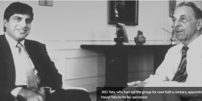 Ratan Tata with JRD Tata
