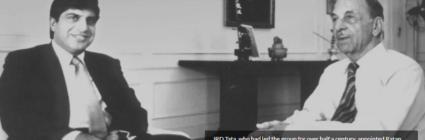 Ratan Tata with JRD Tata