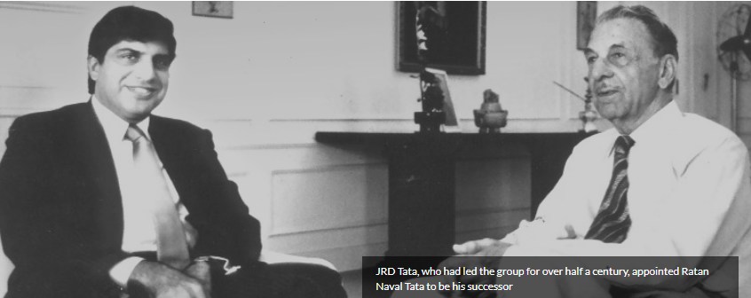 Ratan Tata with JRD Tata,