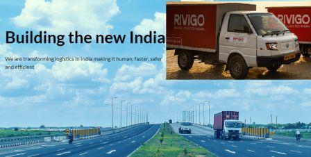 Rivigo trucks on road