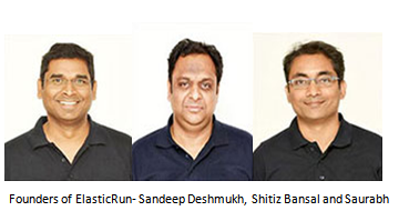 Founders of ElasticRun- Sandeep Deshmukh, Shitiz Bansal and Saurabh